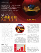 Art & Entertainment: Chinese Bowl Newsletter Template #05716