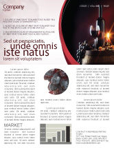Food & Beverage: Wine Bottle Newsletter Template #05719