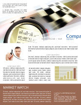 Sports: Stopwatch Newsletter Template #05729