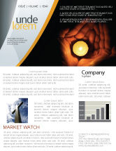 Religious/Spiritual: Candle In Hands Newsletter Template #05771
