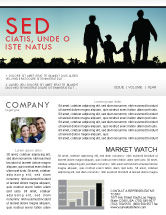People: Modèle de Newsletter de promenade familiale #05802