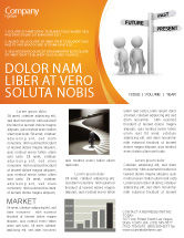 Consulting: Present Past Newsletter Template #05847