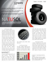 Careers/Industry: Tires Newsletter Template #05850