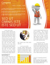 Construction: Symbolic Figure Of A Builder Newsletter Template #05877