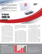 Medical: Computer Diagnostics Newsletter Template #05964