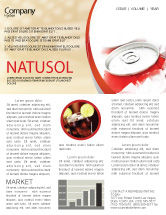 Food & Beverage: Soda Cans Newsletter Template #06003