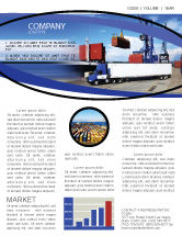 Cars/Transportation: Seaport Newsletter Template #06007
