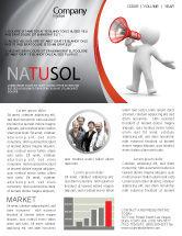 Careers/Industry: Modèle de Newsletter de orateur #06124