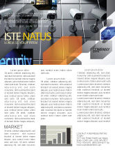Careers/Industry: Monitoring Camera Newsletter Template #06226