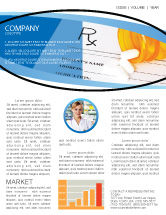 Medical: Medical Records In Data Base Newsletter Template #06278