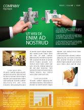 Financial/Accounting: Modèle de Newsletter de enjoliveurs d'argent #06367