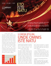 Abstract/Textures: Abstract Red Stars Newsletter Template #06428