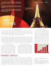 Flags/International: Holiday Eiffel Tower Newsletter Template #06450