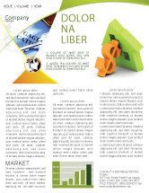 Financial/Accounting: Modèle de Newsletter de argent hypothécaire #06459
