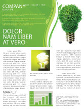 Technology, Science & Computers: Green Eco Lamp Newsletter Template #06530