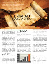 Education & Training: Ancient Scroll Newsletter Template #06539