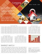 Financial/Accounting: Modèle de Newsletter de maison clé en main #06556