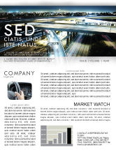 Construction: Junction On Highway Newsletter Template #06566