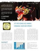 Holiday/Special Occasion: Carnival Dragon Newsletter Template #06572