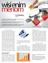 Financial/Accounting: Modèle de Newsletter de réserves monétaires #06600