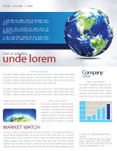 Global: World Globe Newsletter Template #06636