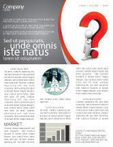 Consulting: Question Mark Newsletter Template #06651