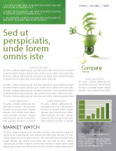 Nature & Environment: Energy Save Lamp Newsletter Template #06657