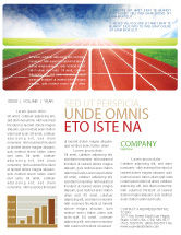 Sports: Race Track Newsletter Template #06677