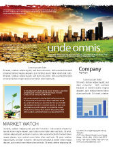 Nature & Environment: Bad Ecology City Newsletter Template #06687