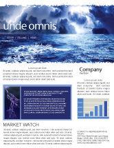 Nature & Environment: Modèle de Newsletter de mer bleu royal #06725