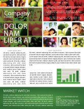 Food & Beverage: Nutrition Newsletter Template #06856