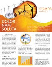 Careers/Industry: Energy Saving Technologies Newsletter Template #06908
