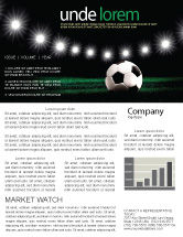 Sports: Football Stadium In The Night Newsletter Template #06916