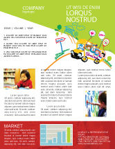 Education & Training: School Bus As Childish Picture Newsletter Template #06932