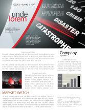 Financial/Accounting: Modèle de Newsletter de speedometer de catastrophe #06936