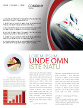 Cars/Transportation: High-Speed Train Newsletter Template #06963