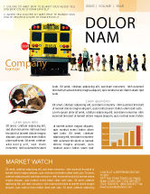 Education & Training: School Bus Stop Newsletter Template #06967