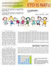 Education & Training: Funny Kids Newsletter Template #07045