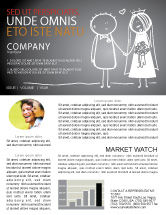 Holiday/Special Occasion: Married Couple Newsletter Template #07048