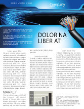 Technology, Science & Computers: Blue Optic Fibers Newsletter Template #07052