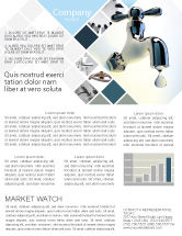 Nature & Environment: Water Tap Newsletter Template #07138