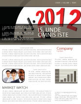 Holiday/Special Occasion: Time of 2012 Newsletter Template #07252