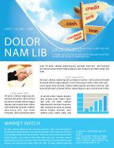 Financial/Accounting: Modèle de Newsletter de crédits et prêts #07279