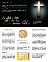 Religious/Spiritual: Cross In The Dark Newsletter Template #07291