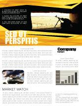 Military: Maschinengewehr Newsletter Vorlage #07308