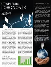 Telecommunication: Social Network Scheme Newsletter Template #07390