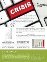 Financial/Accounting: Modèle de Newsletter de bouton de crise #07410