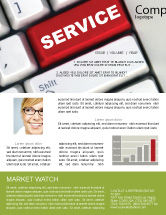 Careers/Industry: High-Tech Service Newsletter Template #07549