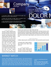 Medical: Operation Room In Dark Blue Newsletter Template #07560