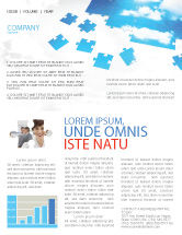 Consulting: Sky Puzzle Newsletter Template #07563
